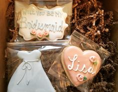 Will you be my bridesmaid? Cookie Set by @cookiesbykatewi #wedding #bridal