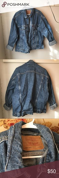 267c4165bd SALE Vintage Levi's Denim Jean Jacket XL A great vintage find, made of very  sturdy