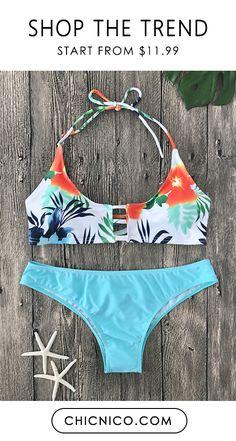 1069a21ff7b3e  22.99 Sexy Floral Print Bathing Suit Bikini Set Bikini Set