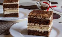 Tort cu cremă de vanilie și ciocolată - Farfuria Colorată Fondant, Romanian Desserts, Cannoli, Sicilian, Quick Easy Meals, Tiramisu, Biscuits, Sweet Treats, Dishes