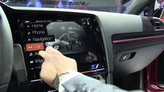 Volkswagen Golf R Touch - gesture control, touchscreen demo at CES 2015