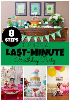 If you've waited too long to plan your child's birthday party, but you still want a custom look, here's what you need to do to make it happen.