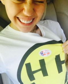 (Bye Felicia!!)Miley Cyrus posted this picture after giving her vote to Hillary - she said she would leave the country if Trump won