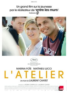 Marina Foïs, Matthieu Lucci, and Julien Souve in L'atelier Streaming Movies, Hd Movies, Film Movie, Movies To Watch, Movies Online, Film 2017, Lucci, Frances Movie, Roman Noir