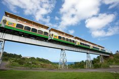 St. Kitts Scenic Railway - The railway was built between 1912 and 1926 to carry sugar cane from the plantations to the factory in the capital city of Basseterre. The railway covers a three-hour circular route, with 18 miles by narrow-gauge train and 12 on sightseeing buses