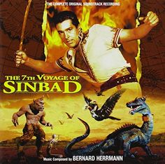 The 7th Voyage of Sinbad (1958) soundtrack Sinbad The Sailor, Music Sites, Fairytale Fantasies, Two Movies, Tall Tales, The Best Films, Fantasy Movies, Movie Releases, Vinyl Cover