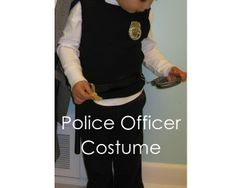 Easy diy kids cop costume pinterest sewing diy costumes and my handmade home diy police officer costume last minute solutioingenieria Images