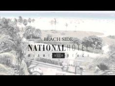 Aerial video showing the amazing beauty and location of the national Hotel in South Beach. National Hotel Miami Beach, Florida Vacation Spots