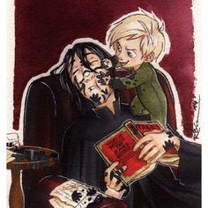 •{snape babysitting Draco}• Awww