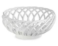 Oval Stoneware Bread Basket. Heat it up and transfer to the table. Keeps bread warm + looks pretty on open shelving or behind glass kitchen cabinets.