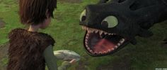 Hiccup and Toothless, How to Train Your Dragon.