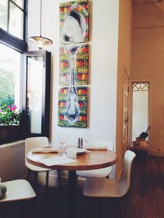 """Krystin Tysire says, """"Simple decor and inviting atmosphere in Vancouver at Heirloom Vegetarian restaurant!"""