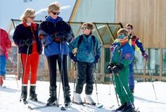 Princes William and Harry take a spring break in Lech, Austria, with Princess Diana