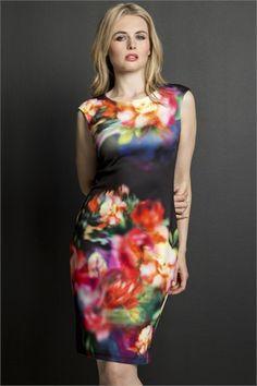 Floral Digital Print Dress