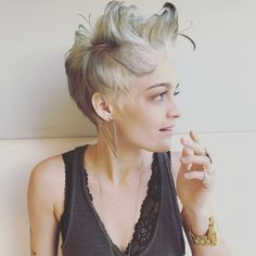 Grey hair #cut And color
