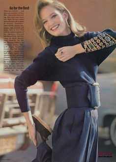 45 Reasons Why Supermodels Were Better In The '80s -- the belt!