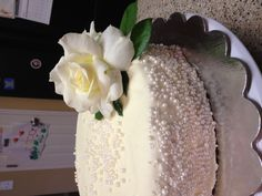 30th Wedding Anniversary Cake - chocolate cake with raspberry filling and white chocolate frosting