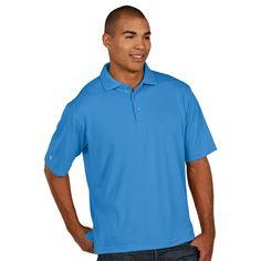 Antigua Men's Columbia Blue Pique Xtra-Lite Polo