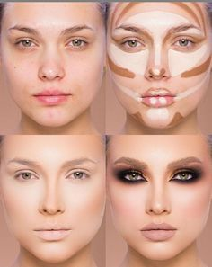 Easy Conture And Hignlight Makeup Tutorial Step By Step Ideas For Prom - Beauty Makeup - Make Up İdeas Highlighter Makeup, Contour Makeup, Contouring And Highlighting, Beauty Makeup, Eye Makeup, Contour Eyes, Make Up Contouring, Makeup 101, Face Beauty