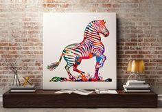 Watercolor-Art-Print-Painting-Giclee-Art-Home-Decor-Wall-zebra-children-room