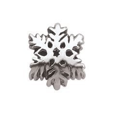 Persona Sterling Silver Oxidized Snowflake Bead - Zales