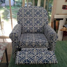 Recliner for client.