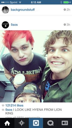 MIKEY HAS FLIPPING RED HAIR. I REPEAT. MIKEY HAD RED HAIR. IM SO DONE. MICHAEL GIRL DOWN>>> lol ash<<<<calum at the bottom...<<<<lol ash looks mental O.o