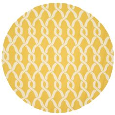 @Overstock.com - Handmade Indoor/ Outdoor Capri Gold Rug (7'10 Round) - Expand your decorating options exponentially when you add this warm indoor/outdoor rug to your collection. The polypropylene material resists the fading effects of sun and rain, while the cheery gold and cream color scheme brightens any area.  http://www.overstock.com/Home-Garden/Handmade-Indoor-Outdoor-Capri-Gold-Rug-710-Round/7751731/product.html?CID=214117 $236.69