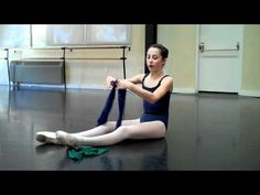 Strengthen feet for pointe shoes with releve, eleve & therabands. Prepare for pointe.