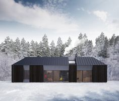 """""""The prefab/kit house market generally prefers fake historical over contemporary,"""" says Claesson Koivisto Rune, """"and it is more than common that an architect has not been involved at all."""" The team was keen to avoid this conservative approach and wanted to come up with a modern design that reflected current Swedish architecture."""