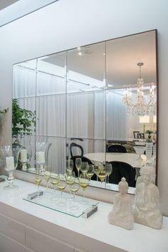 Espelho junção para a sala de estar: um item indispensável!