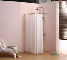 13 PERFECT CORNER SHOWER CURTAIN RODS   Corner Shower Curtain Rod Ceiling  Support