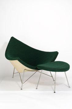 Georg Nelson . coconut chair + ottoman, 1955 #ChairDesign