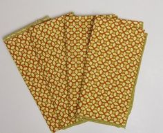 Vintage Cloth Napkins Printed Cotton by MereZeDotesVintage on Etsy, $14.00