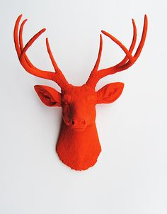 White+Faux+Taxidermy++Faux+Deer+Mount++The+door+WhiteFauxTaxidermy,+$99.99