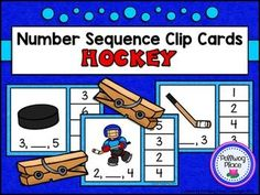 Number Sequence Clip Cards: Hockey {Numbers 1-20} ($)