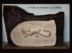 """Cuadro """"Salamandra"""" - Diseño de La Lluna, Arte en Cerámica®"""