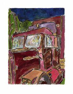 www.canvasgallery.com Bob Dylan Truck 2008