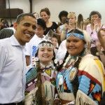 President Obama visits the Confederated Tribes in Pendleton, Oregon