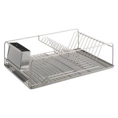 DECKER Stainless steel single level dish drainer | Buy now at Habitat UK