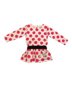 Take a look at this White & Pink Polka Dot Zebra Dress - Infant, Toddler & Girls on zulily today!