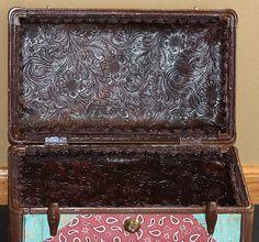 Western Theme Decoupage Train Case, via Flickr.