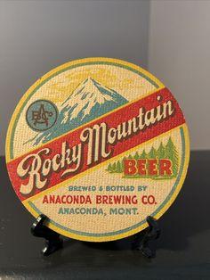 Beer Coasters, Anaconda, Brewing Co, Rocky Mountains, Bottle, Ebay, Flask, Jars, Green Anaconda