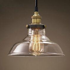 European Modern style Hanging Pendant Lights Lamps Retro Edison Ceiling Glass Lamp Cafe Pendant Light Kitchen Restaurant