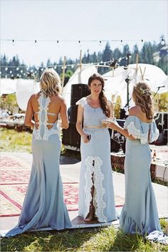 dusty blue mismatcthed bridesmaid dresses / http://www.himisspuff.com/bridesmaid-dress-ideas/