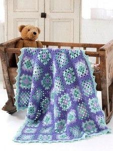 Rockabye Baby Granny Square Blanket