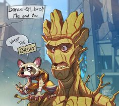 Rocket and Groot by Javas on DeviantArt