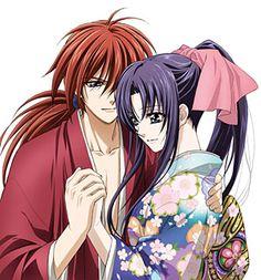 Rurouni Kenshin - Kenshin Himura x Kaoru Kamiya - KenKao Kimono Animé, Anime Kimono, Manga Anime, Anime Art, Rurouni Kenshin, Kenshin Anime, Era Meiji, Anime Love, Kenshin Le Vagabond