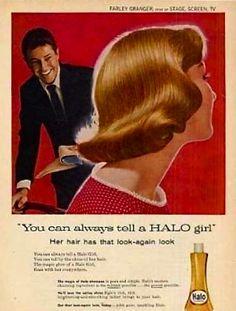 8dffc5f38375 Halo Shampoo Farley Granger, Vintage Beauty, Vintage Images, Halo,  Childhood Memories,