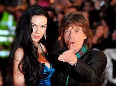 "Mick Jagger and L'Wren Scott arrive at the UK premiere of  Martin Scorsese's film ""Shine a Light"" on April 2, 2007."
